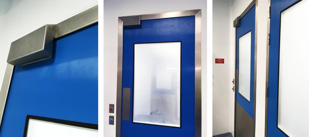 Flush cleanroom doors Dortek